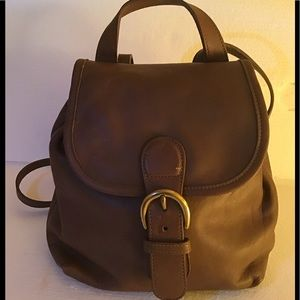 Coach Brand Brown Leather Mini Backpack CSC-4152